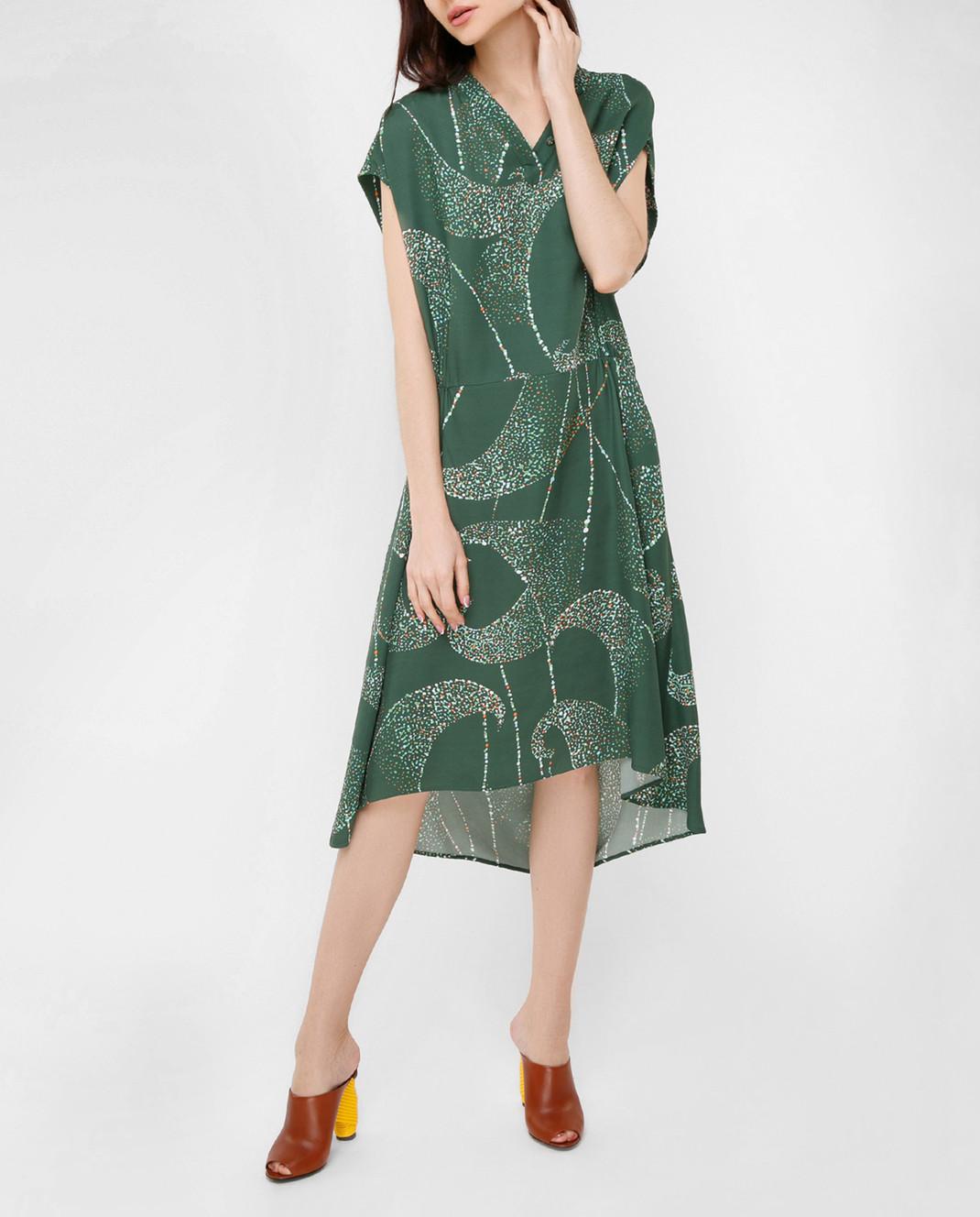 Balenciaga Зеленое платье 456946 изображение 2