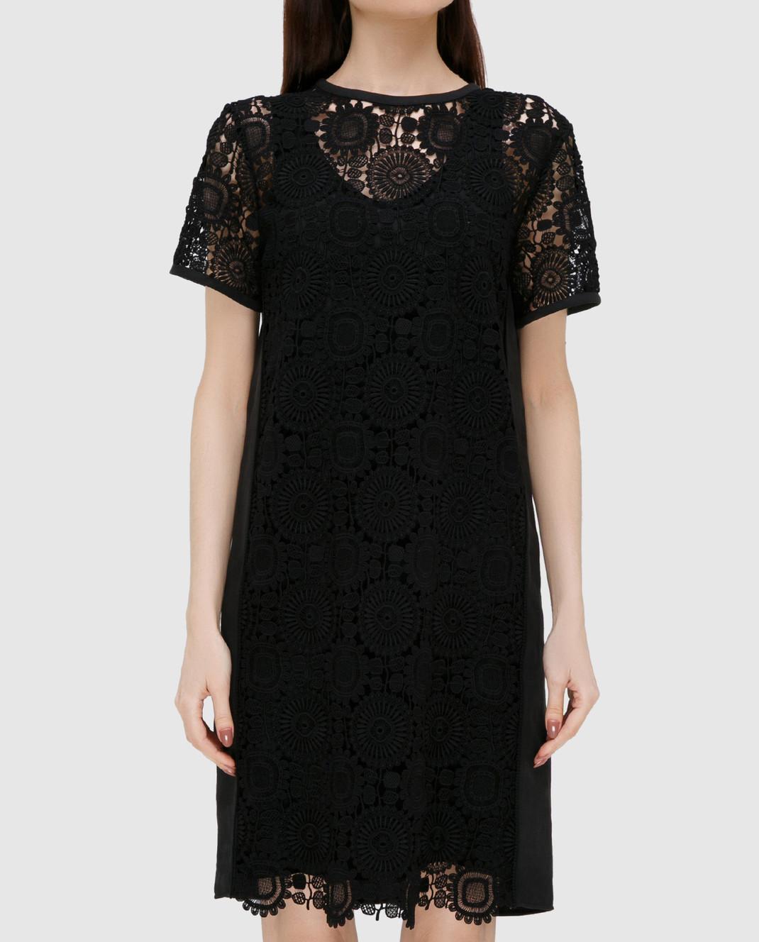 Chloe Черное платье из кружева 17SRO60 изображение 2
