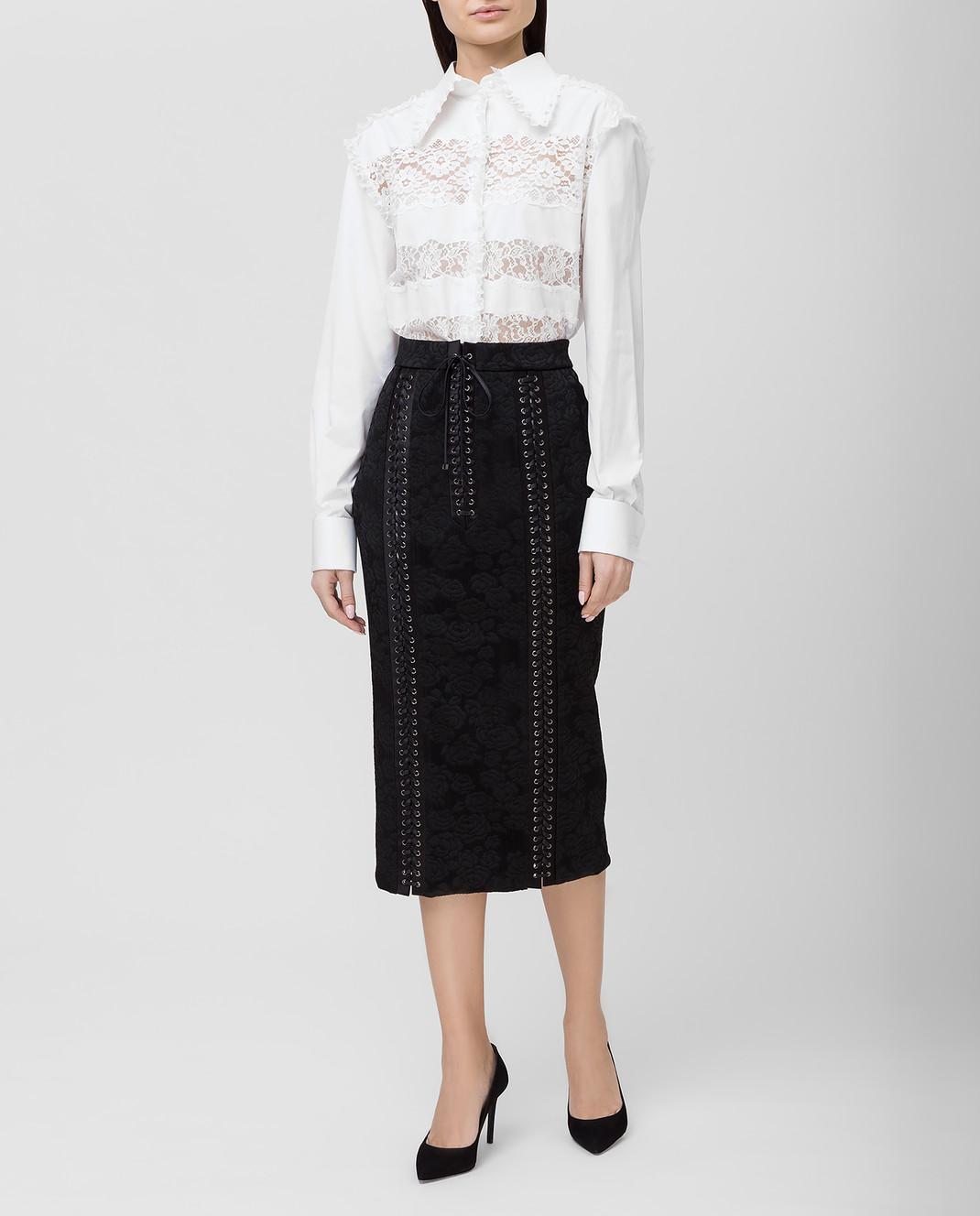 Dolce&Gabbana Черная юбка F4BIGTFJRCP изображение 2