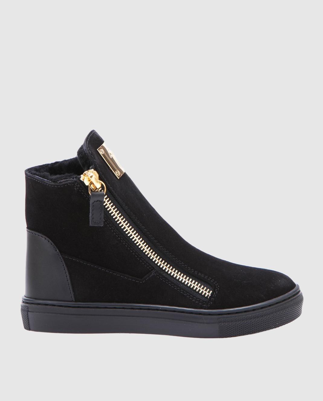 Giuseppe Zanotti Черные замшевые ботинки SBI7402002