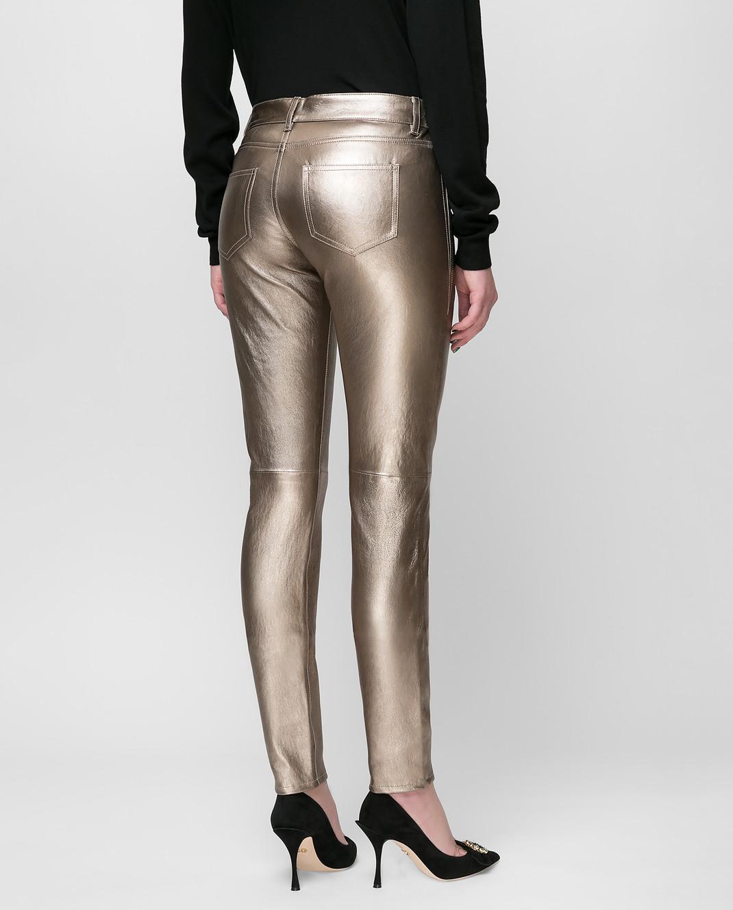 Saint Laurent Золотистые брюки изображение 4