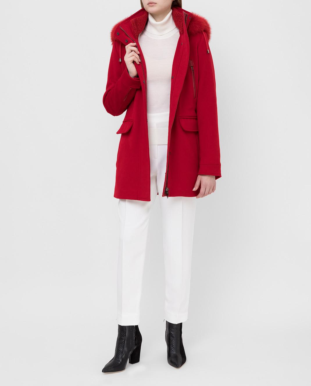 Heresis Красное пальто из шерсти P1080VO изображение 2