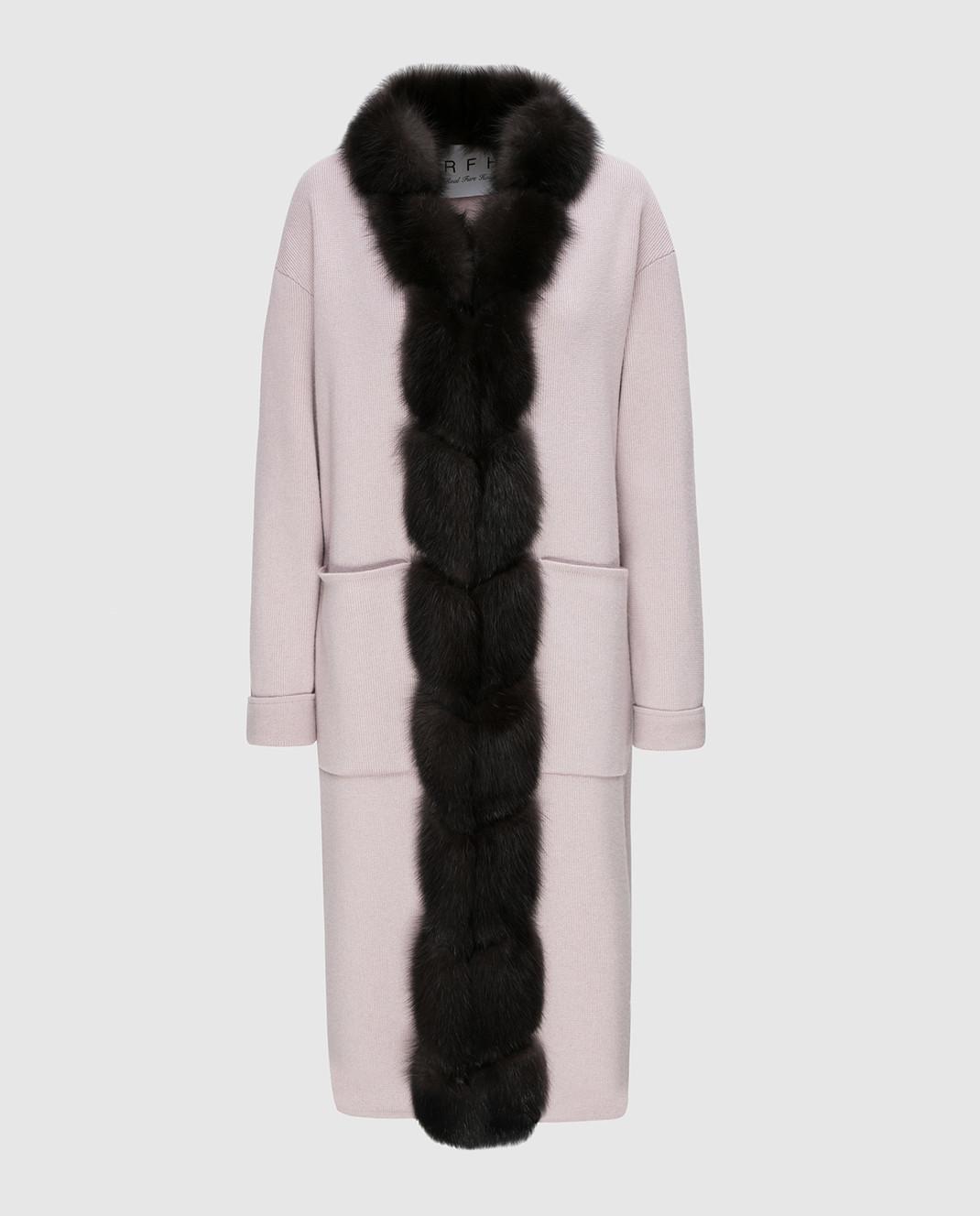 Real Furs House Пудровое пальто CSR01