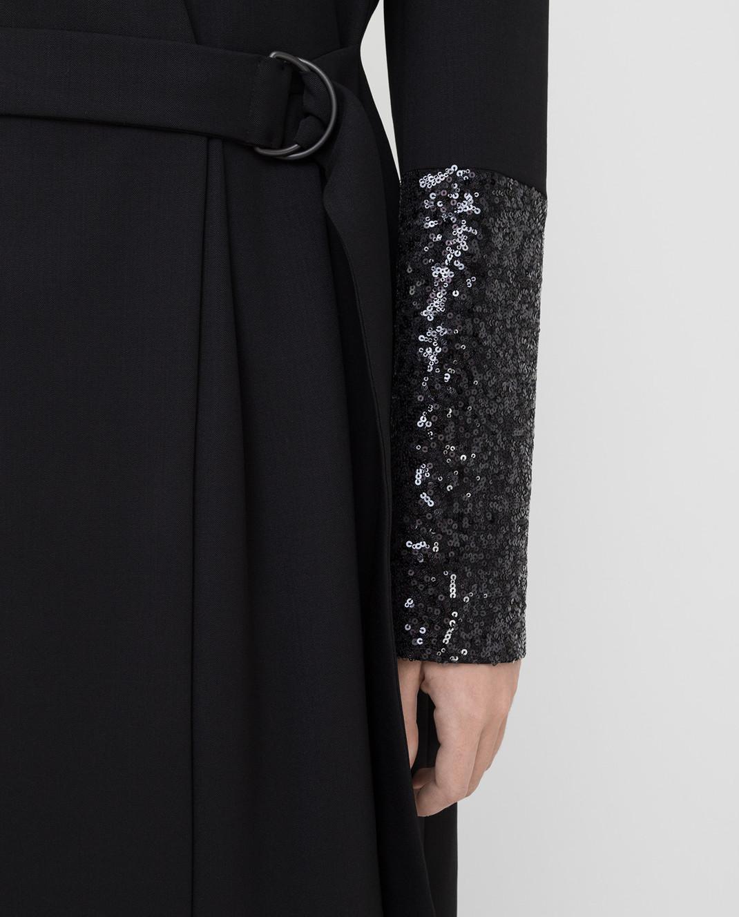 Brunello Cucinelli Черное платье из шерсти изображение 5