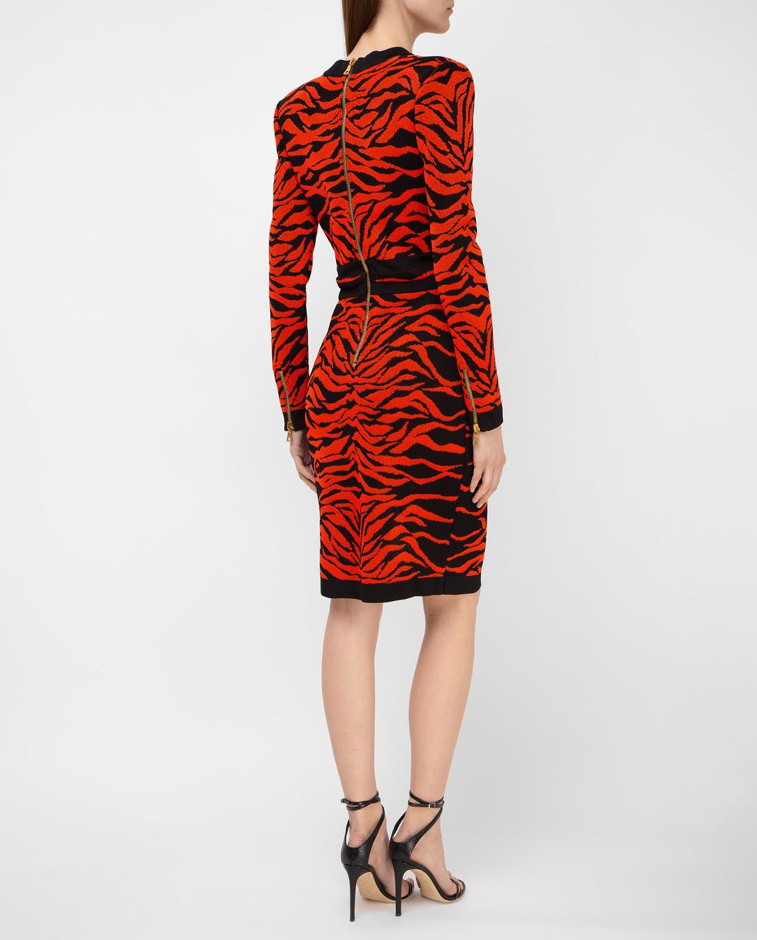 Balmain Оранжевое платье 6975482M изображение 4