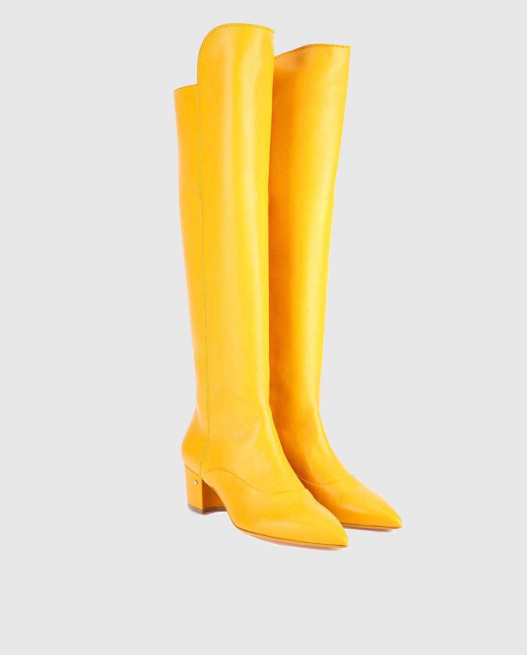 Laurence Dacade Желтые кожаные сапоги SANDRINE изображение 2