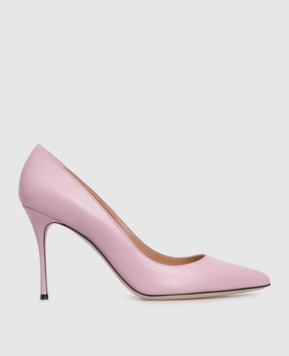 Розовые кожаные лодочки
