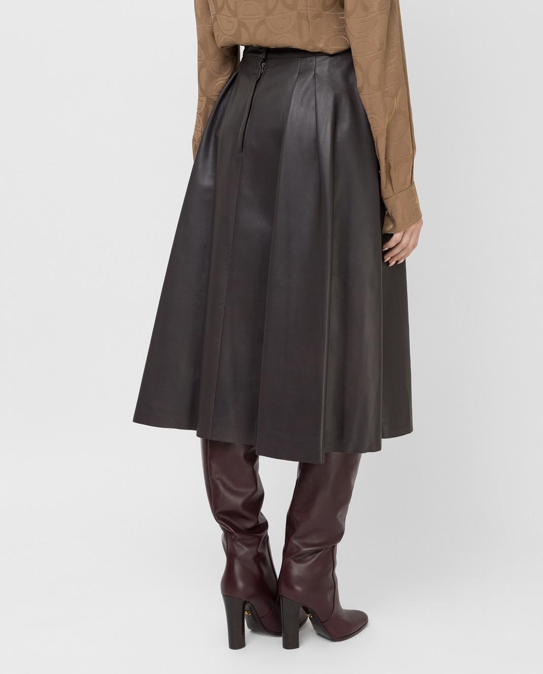 Dolce&Gabbana Коричневая юбка изображение 4