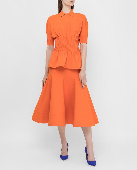 Оранжевая юбка hover