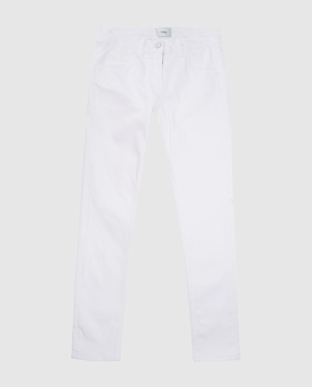 Fendi Детские белые джинсы JFF0901012