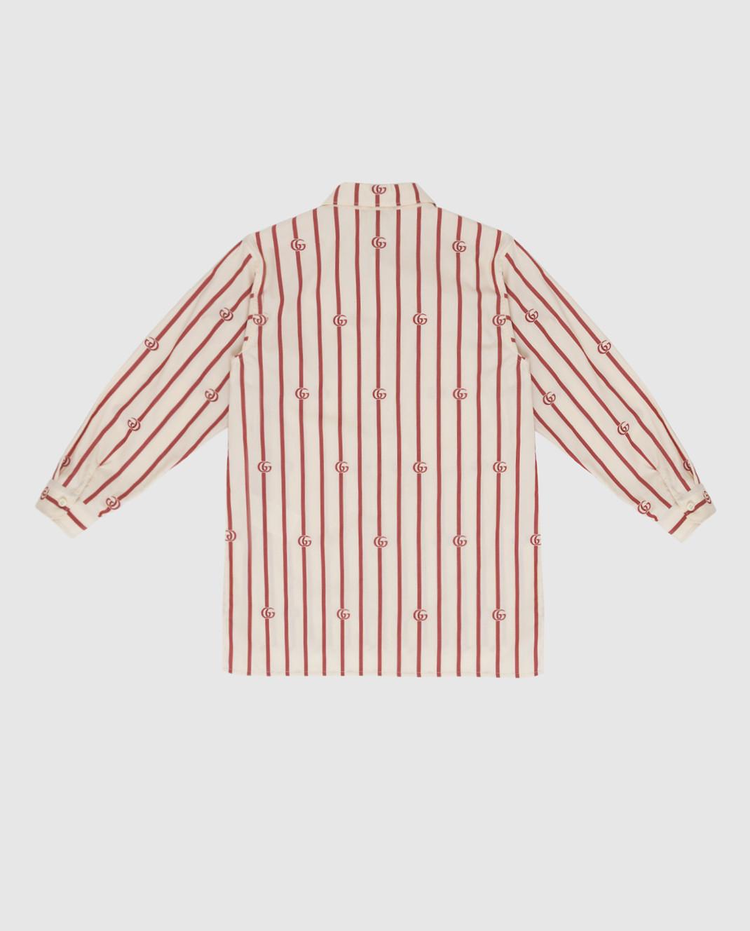 Gucci Детская светло-бежевая рубашка изображение 2