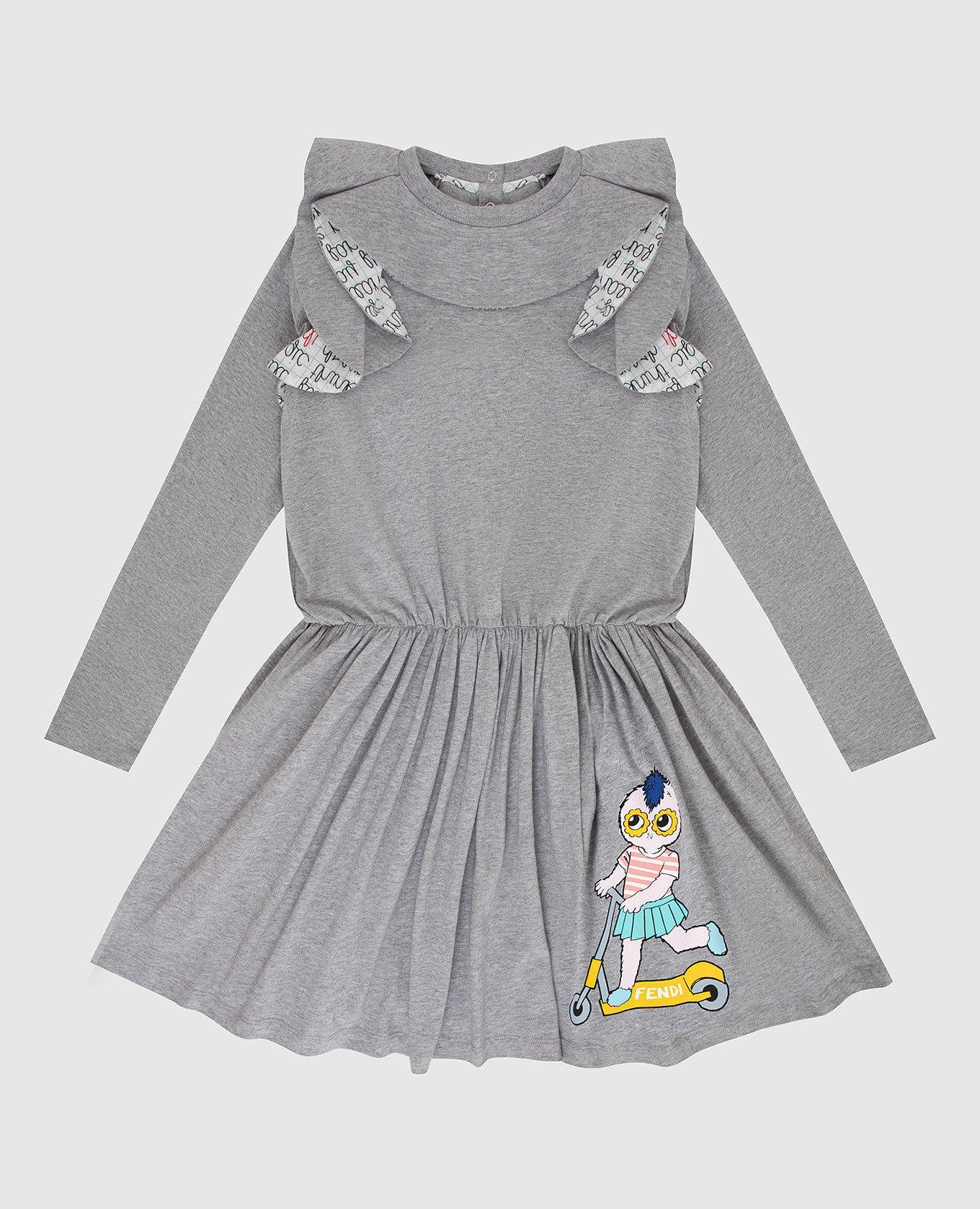 Детское серое платье