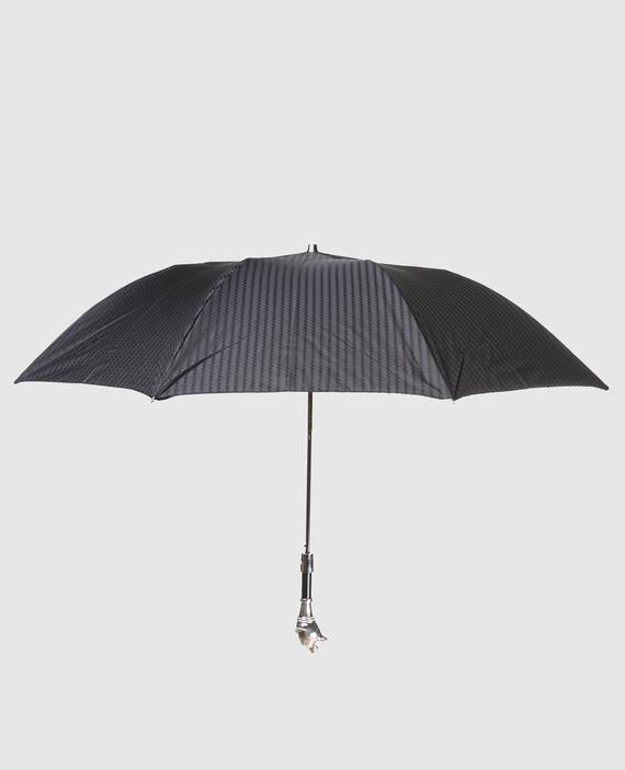 Черный полуавтоматический зонт hover