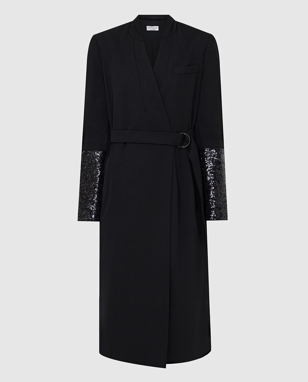 Brunello Cucinelli Черное платье из шерсти изображение 1