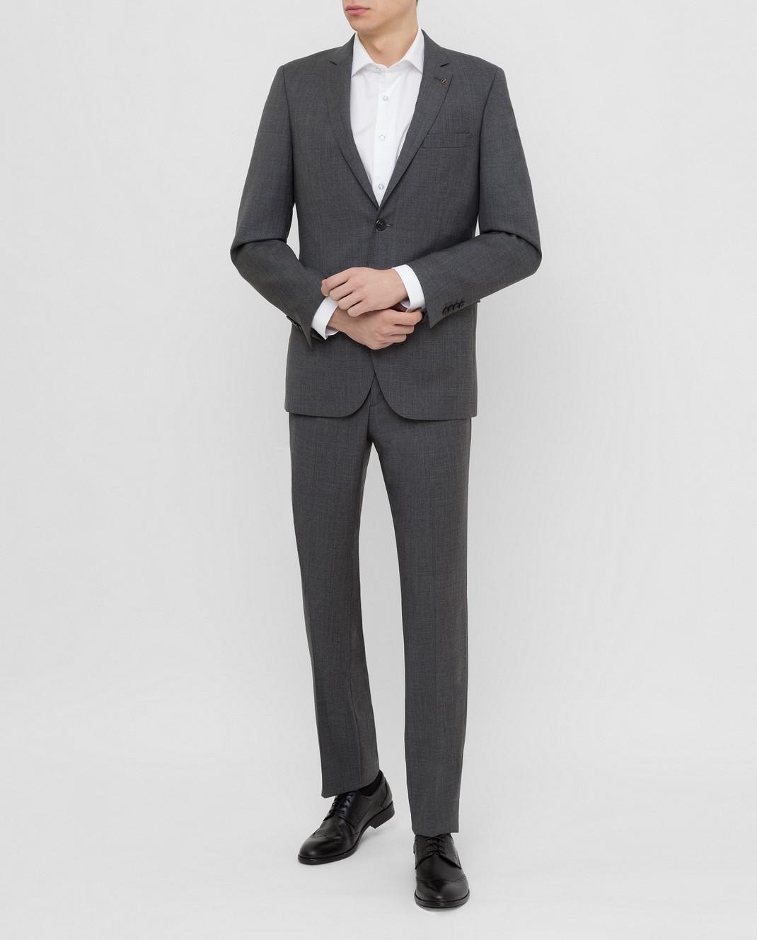 Florentino Темно-серый костюм из шерсти 219852960903 изображение 2