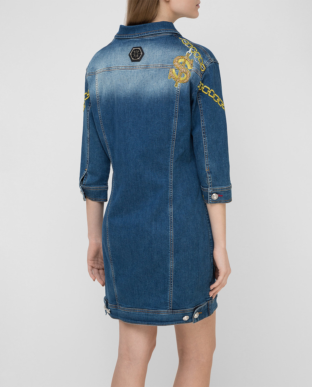 Philipp Plein Синее платье CWDG0016 изображение 4