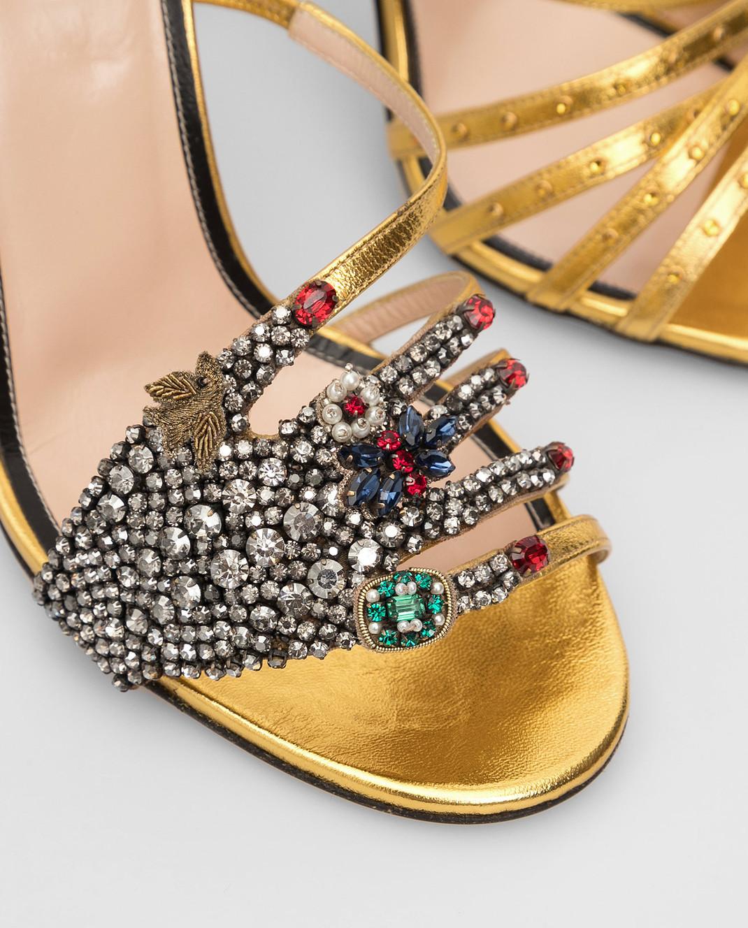 Gucci Босоножки с кристаллами 452770 изображение 5
