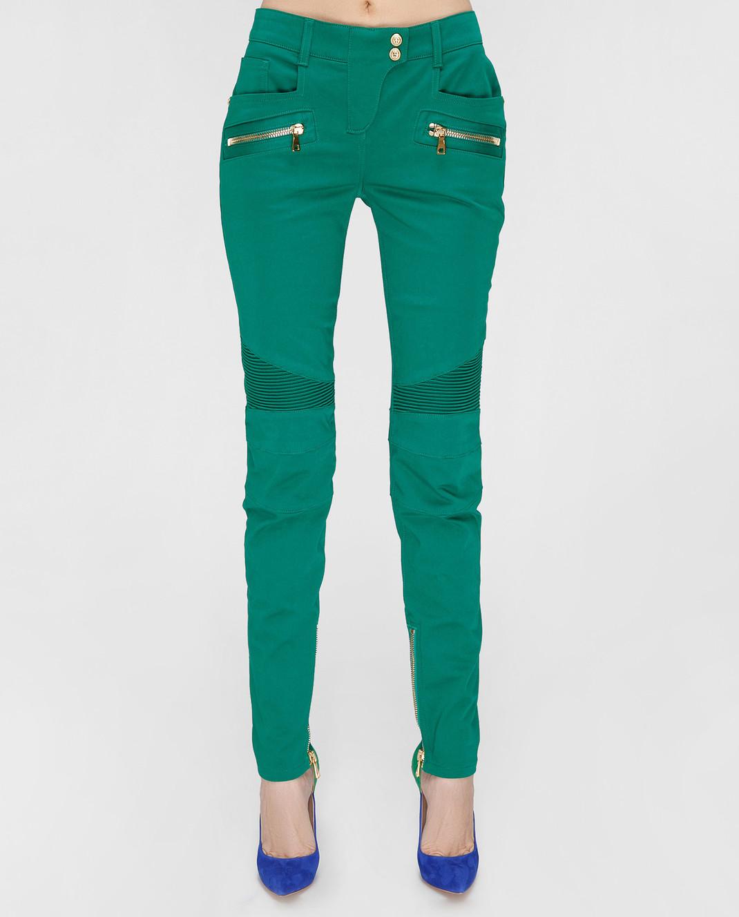 Balmain Зеленые брюки 5356347N изображение 4