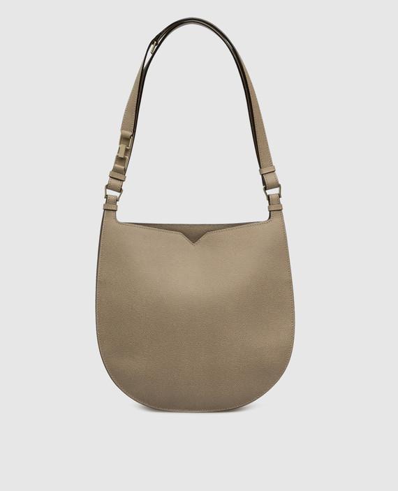 Бежевая кожаная сумка