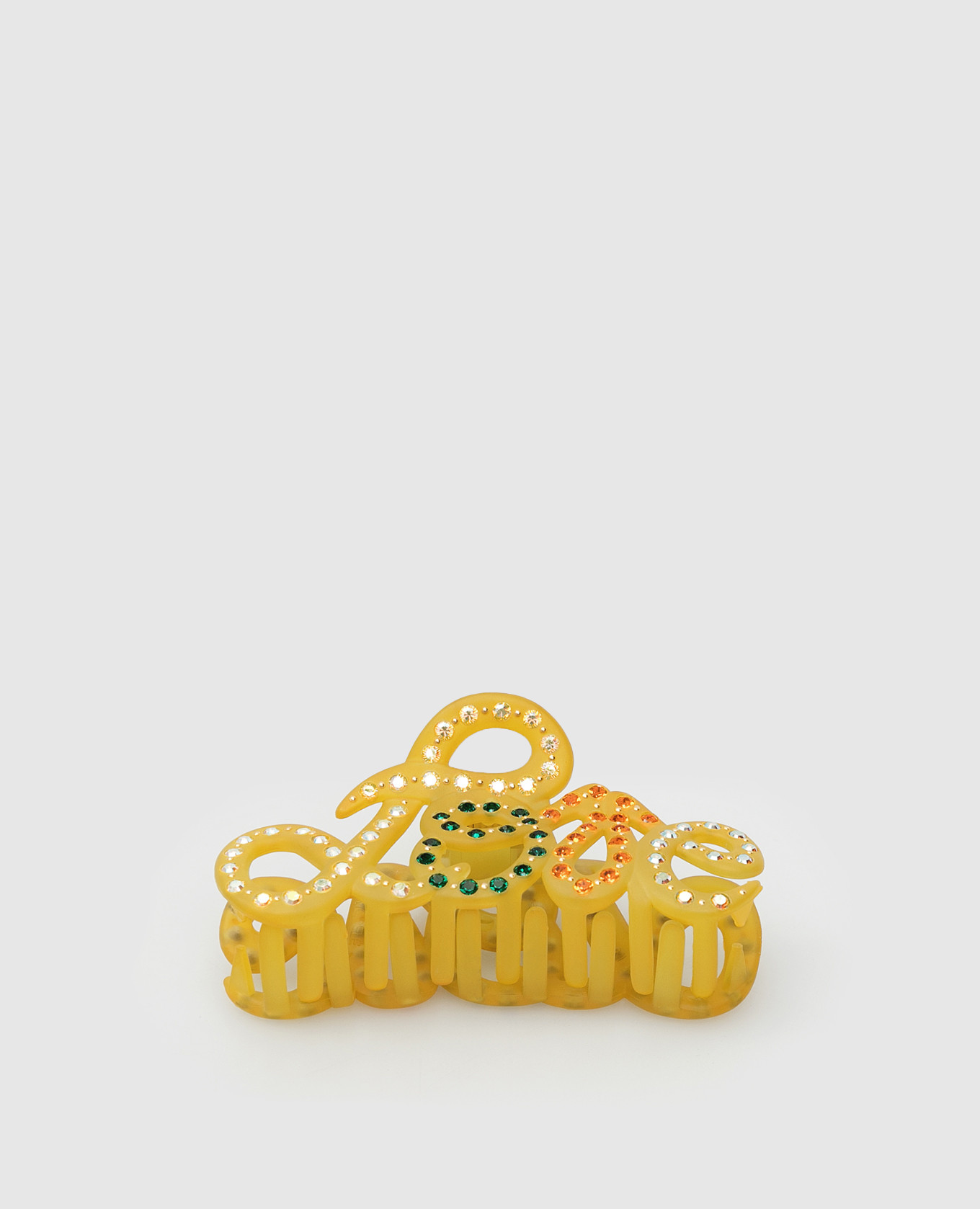 Желтый крабик с кристаллами