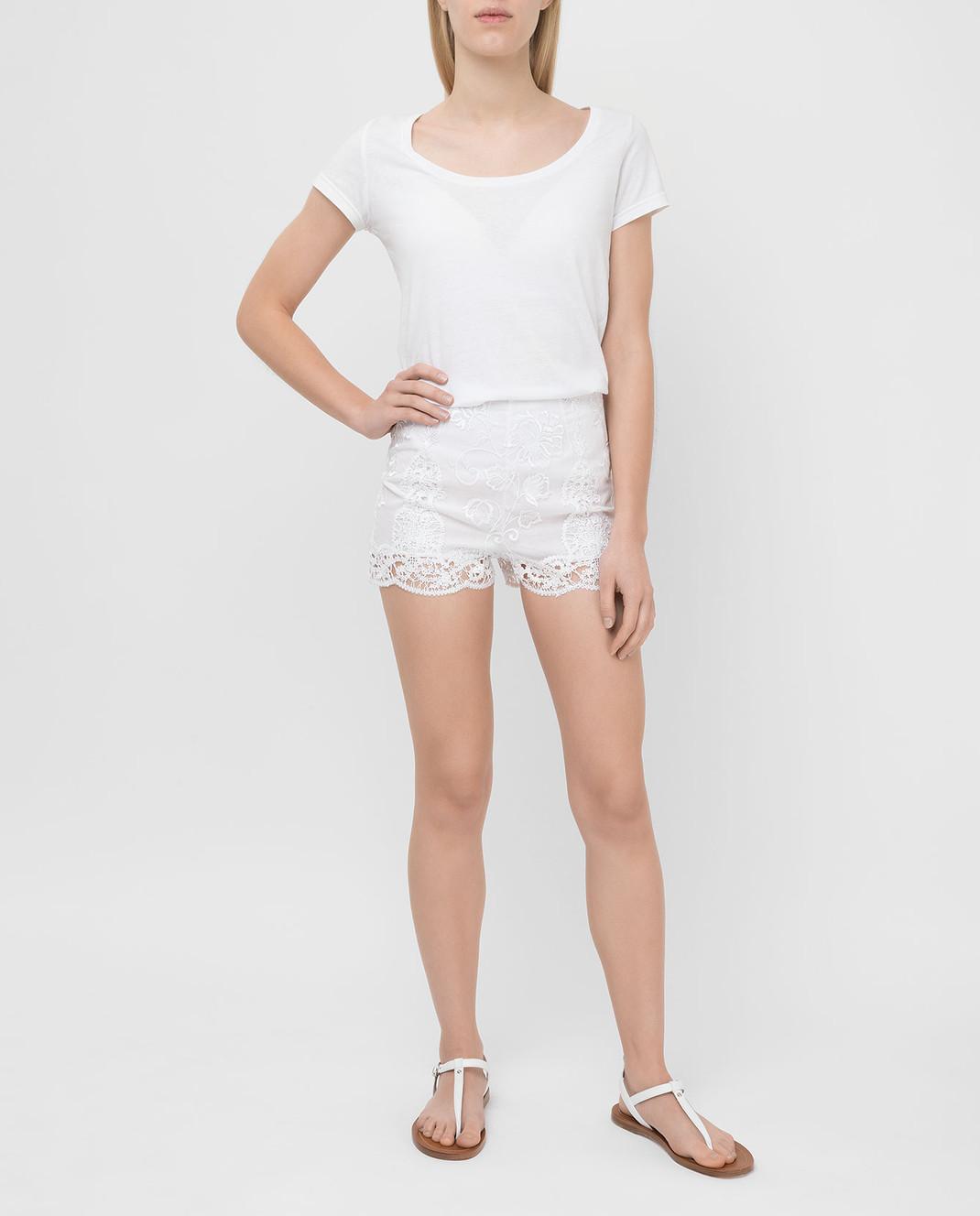 Charo Ruiz Белые шорты 00372 изображение 2
