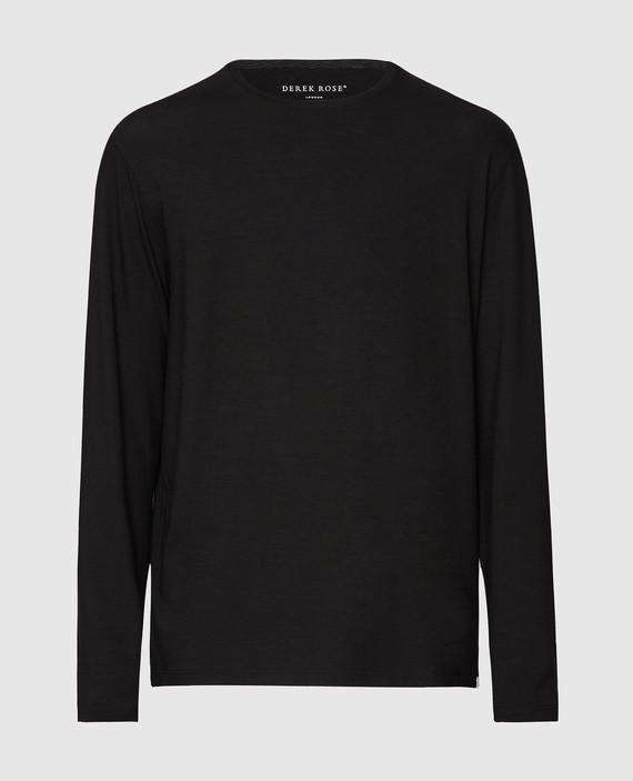 Черный лонгслив