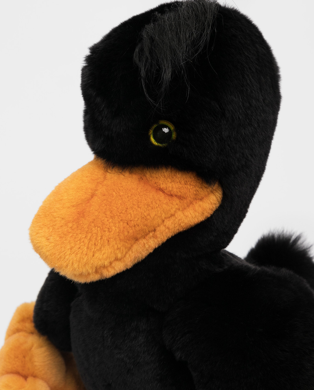Real Furs House Детская черная игрушка утка изображение 4