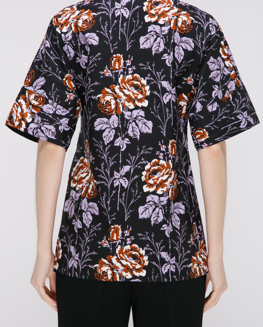 Victoria Beckham Черная блуза SHSHO1047 изображение 4