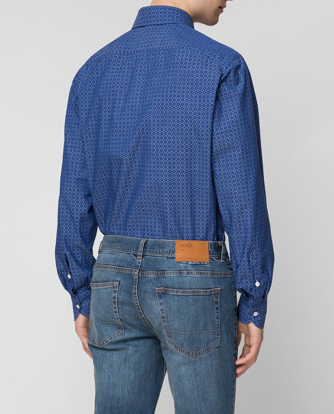 ISAIA Синяя рубашка CAM088C6083 изображение 4