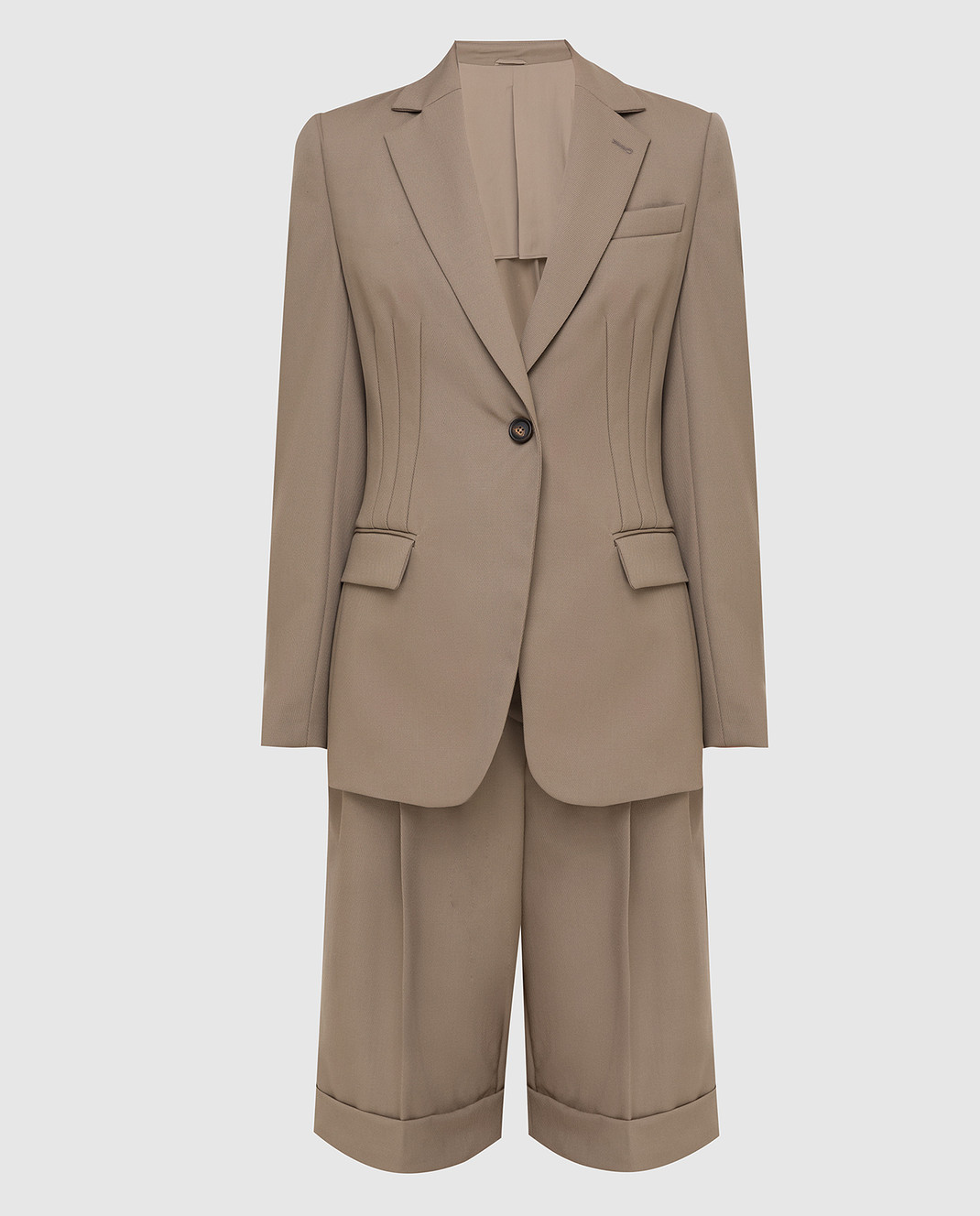 Brunello Cucinelli Бежевый костюм из шерсти изображение 1