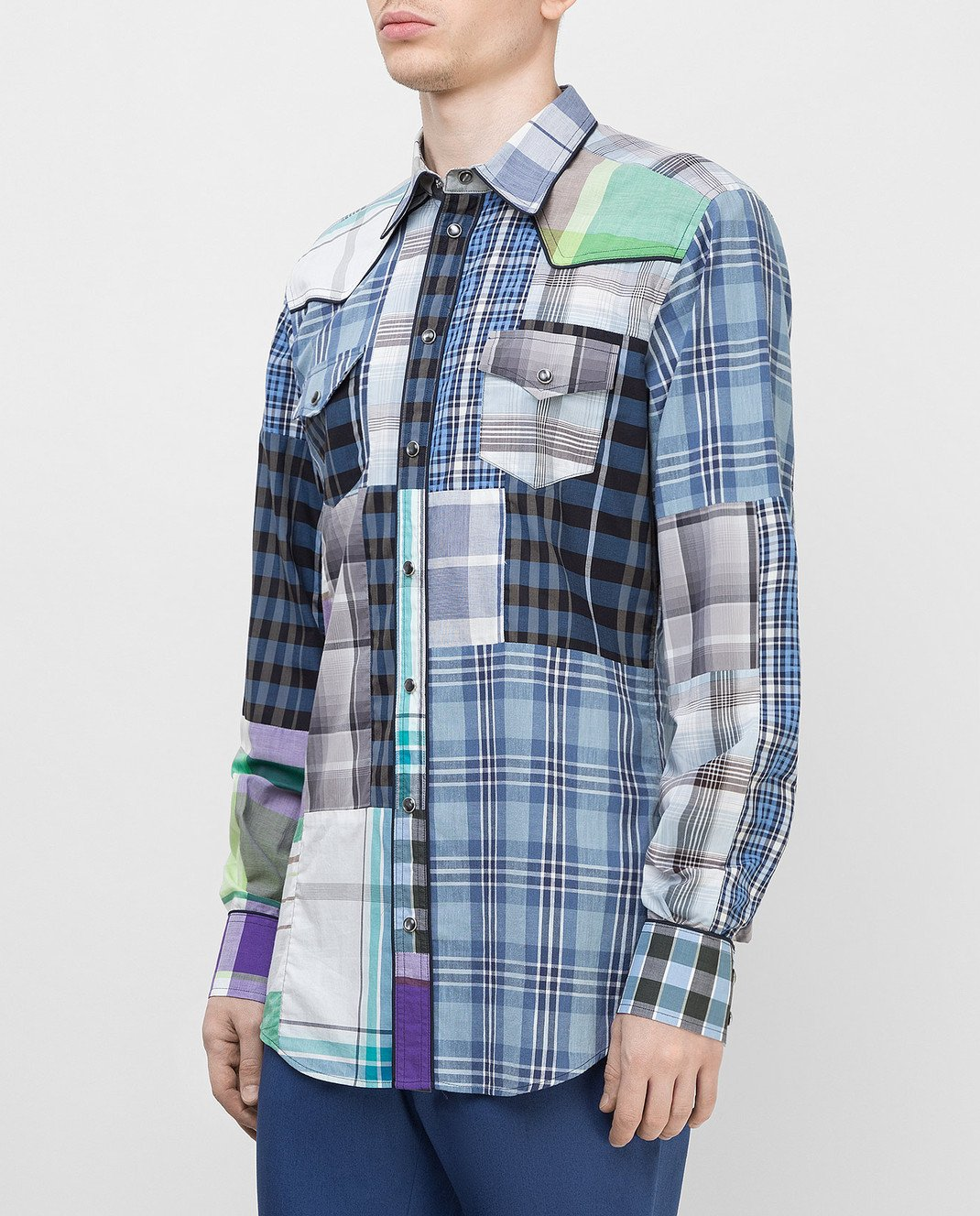 Dolce&Gabbana Синяя рубашка G5CS8TG9Y16 изображение 3