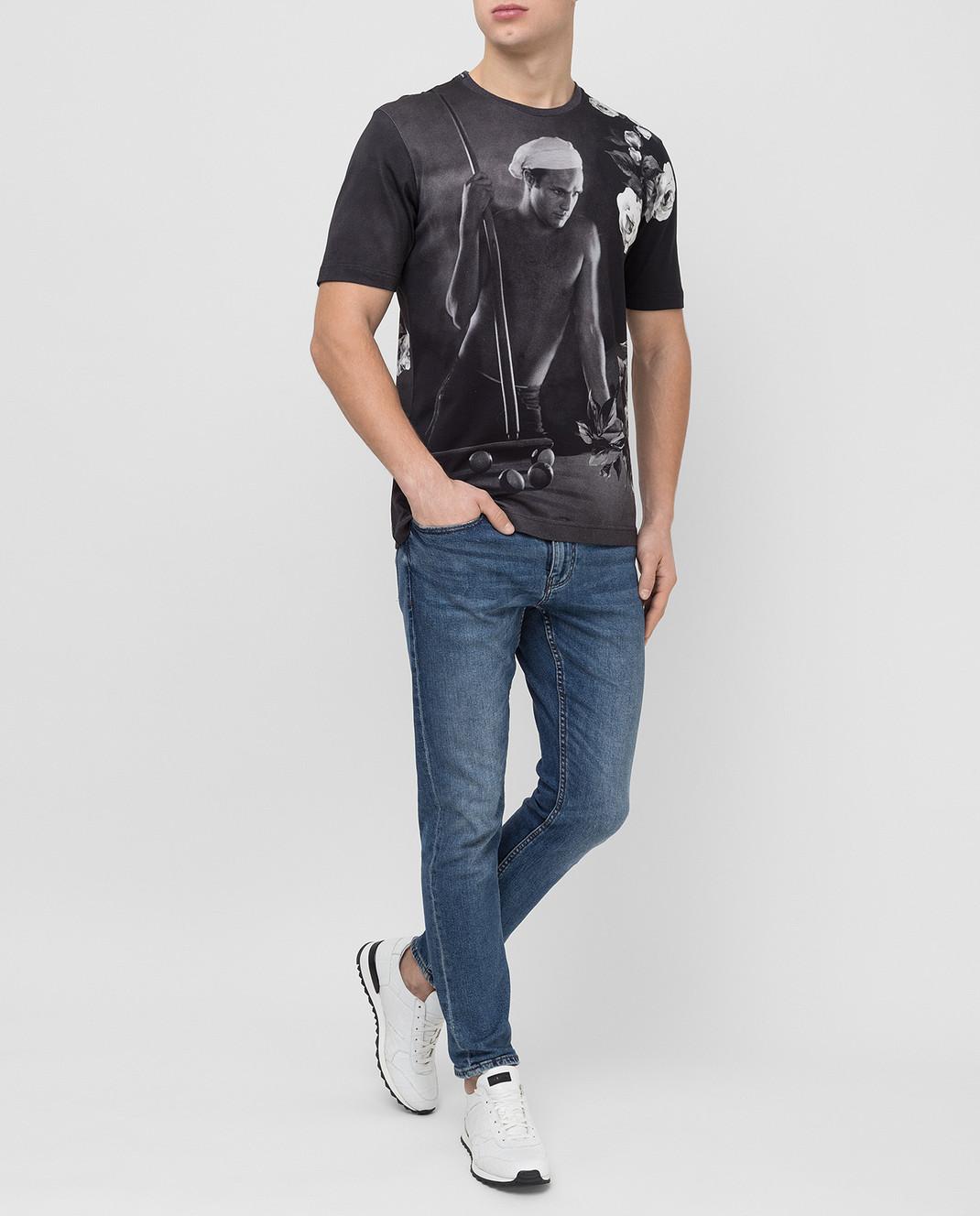 Dolce&Gabbana Черная футболка G8GW5TFP718 изображение 2