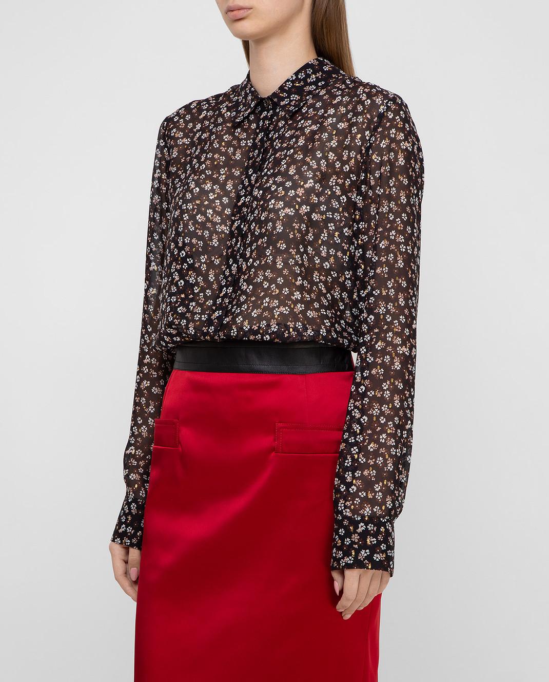 Altuzarra Черная блуза из шелка 418414848 изображение 3