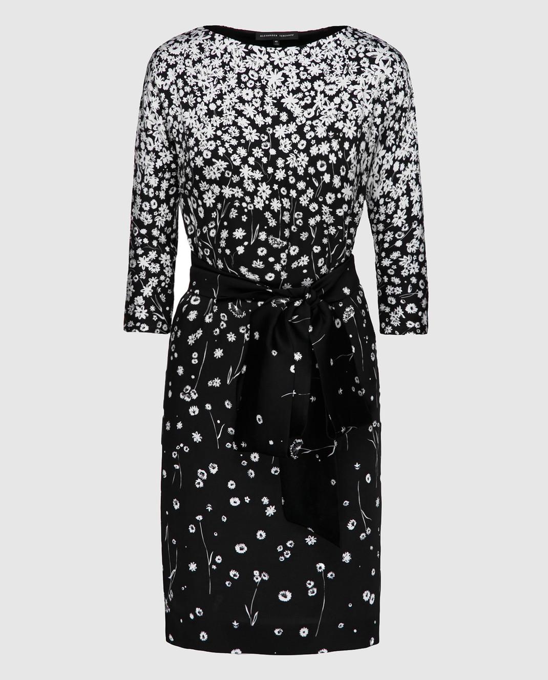 Alexander Terekhov Черное платье из шелка D123