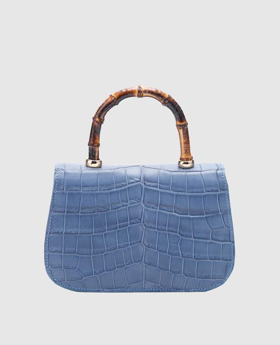 Синяя кожаная сумка hover