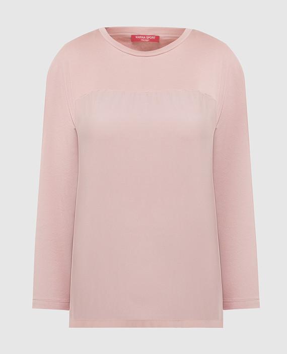 Розовый лонгслив