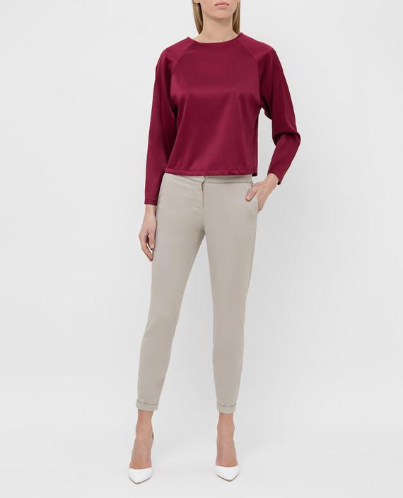 Бордовая блуза из шелка hover