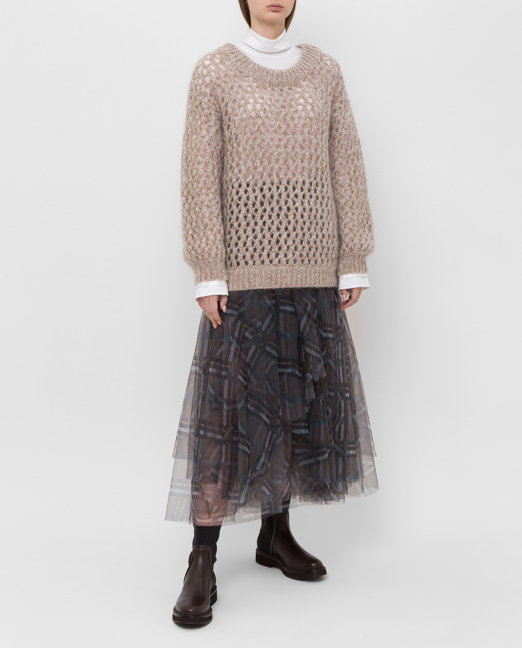 Brunello Cucinelli Бежевый свитер M9F386208 изображение 2