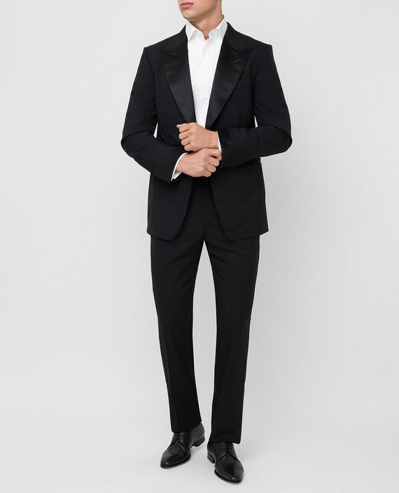 Черный костюм из шерсти hover