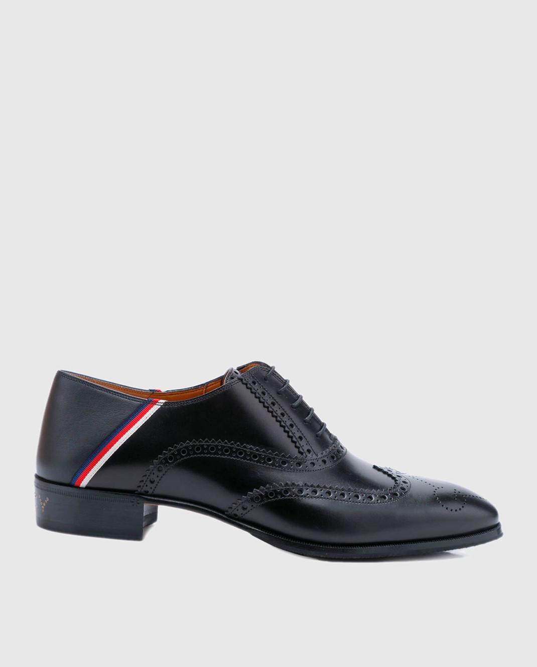 Gucci Черные кожаные броги 523282
