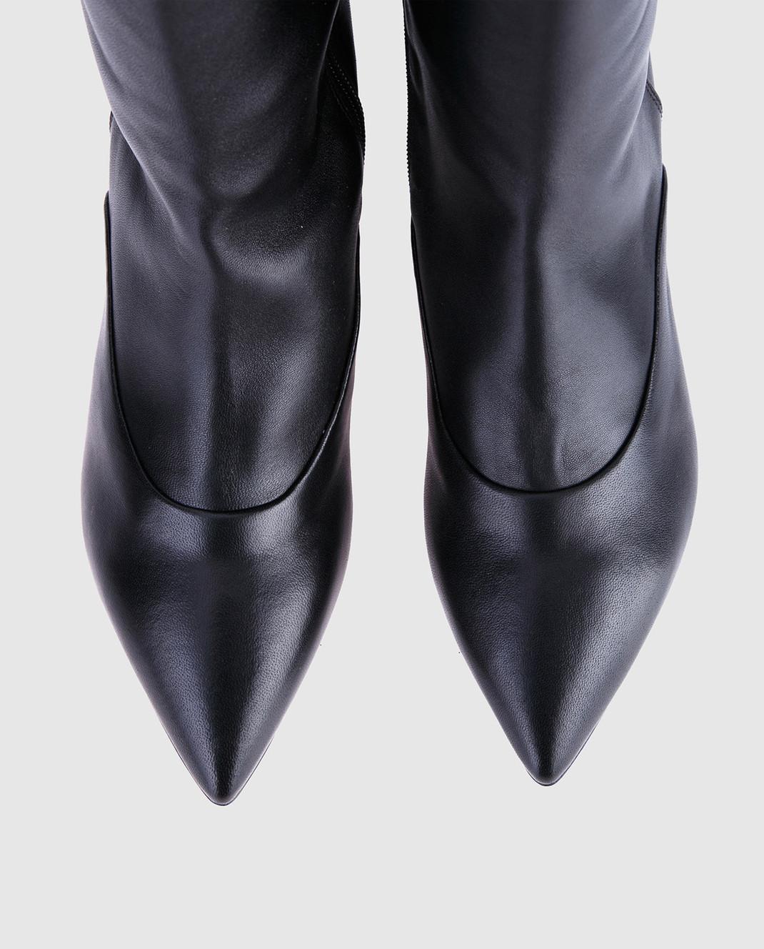 Laurence Dacade Черные кожаные сапоги SANDRINE изображение 4