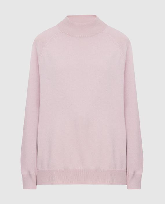 Розовый гольф из кашемира