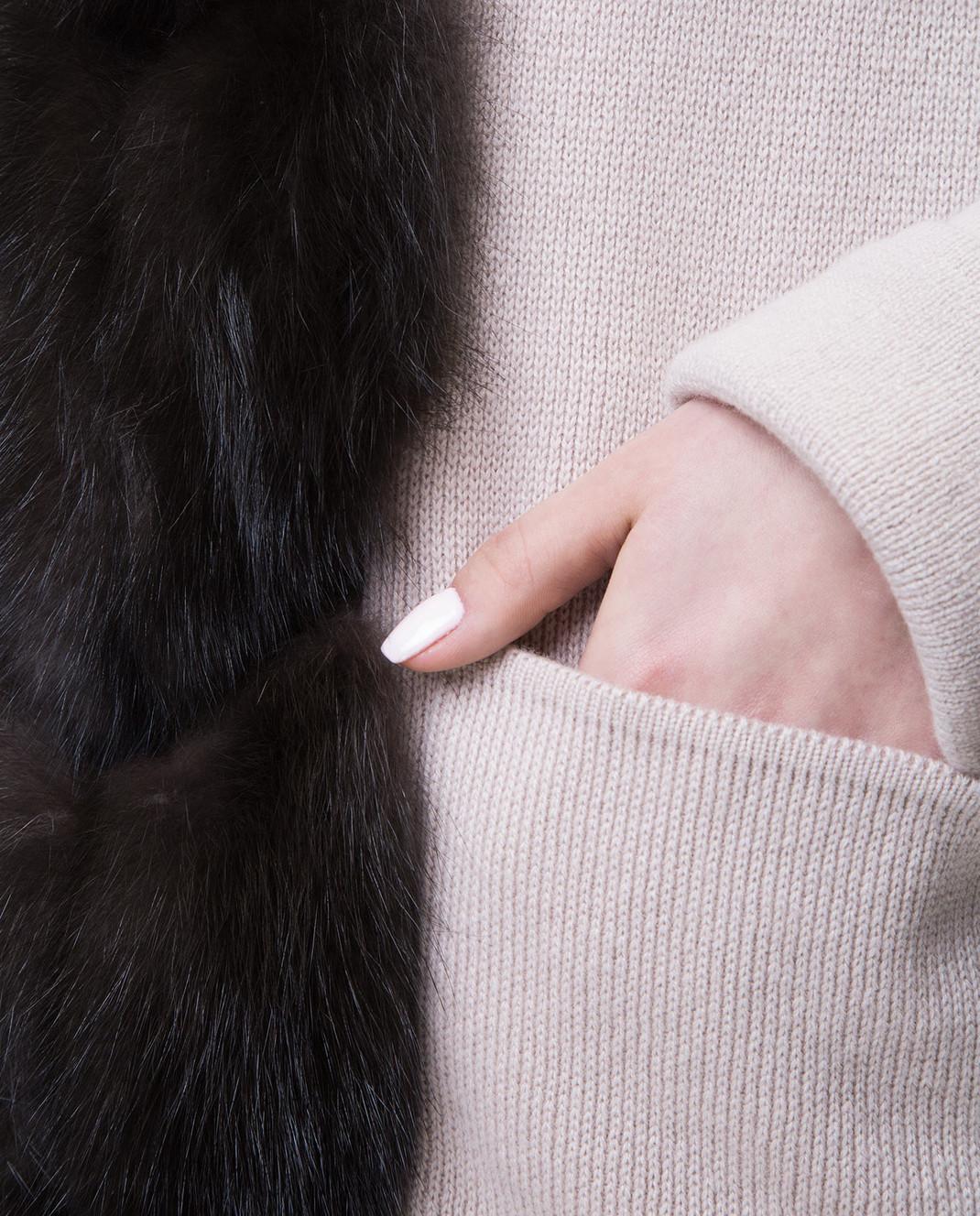 Real Furs House Бежевое пальто CSR01 изображение 5