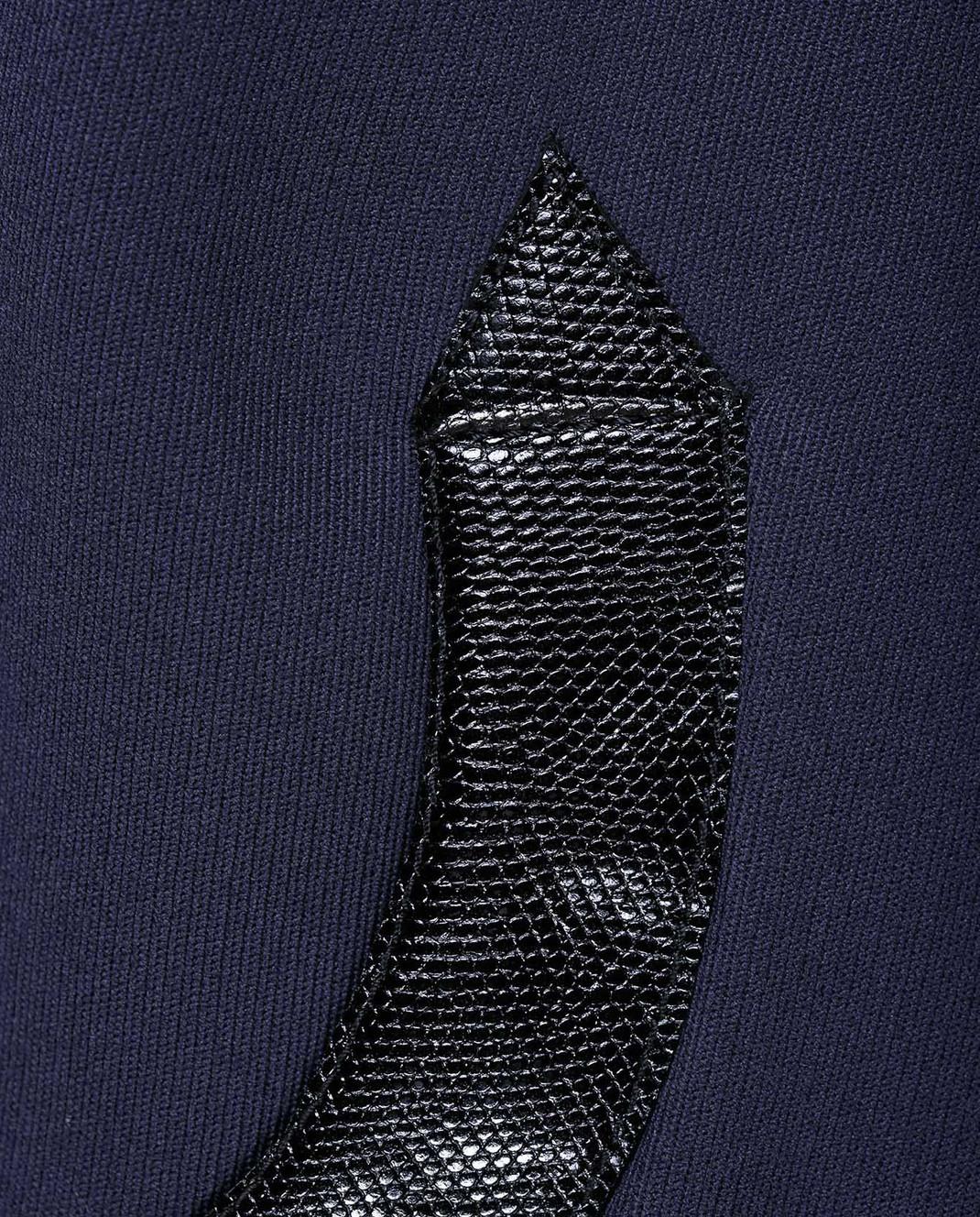 NINA RICCI Темно-синее пальто из шерсти 17HCMA016WV0220 изображение 5