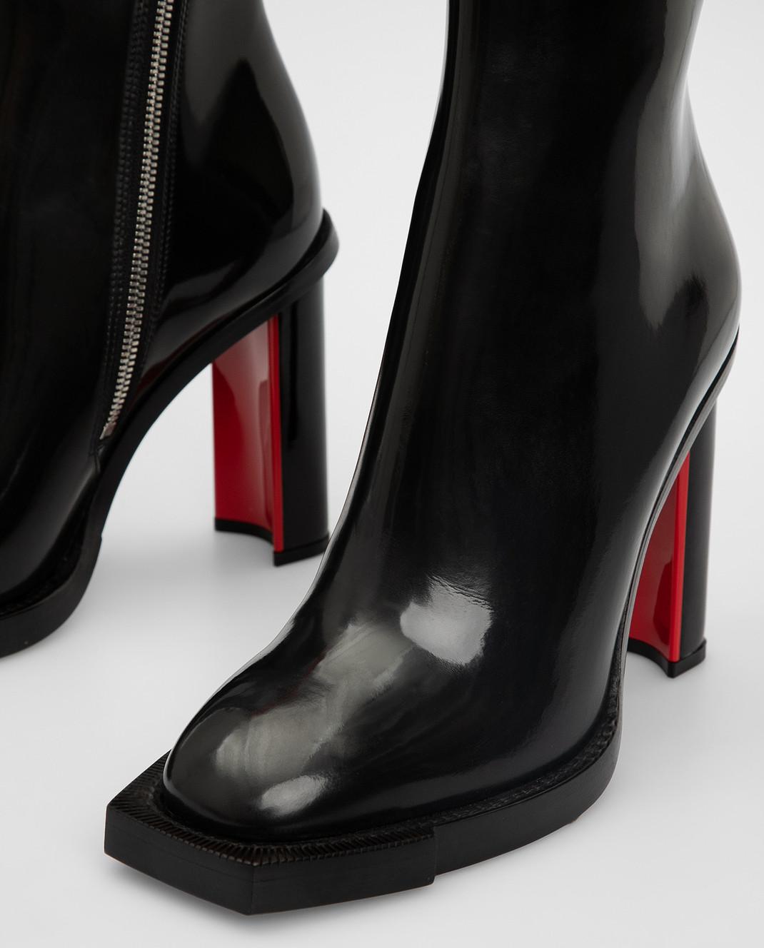 Alexander McQueen Черные кожаные сапоги изображение 5