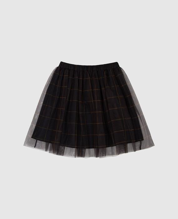 Детская темно-серая юбка