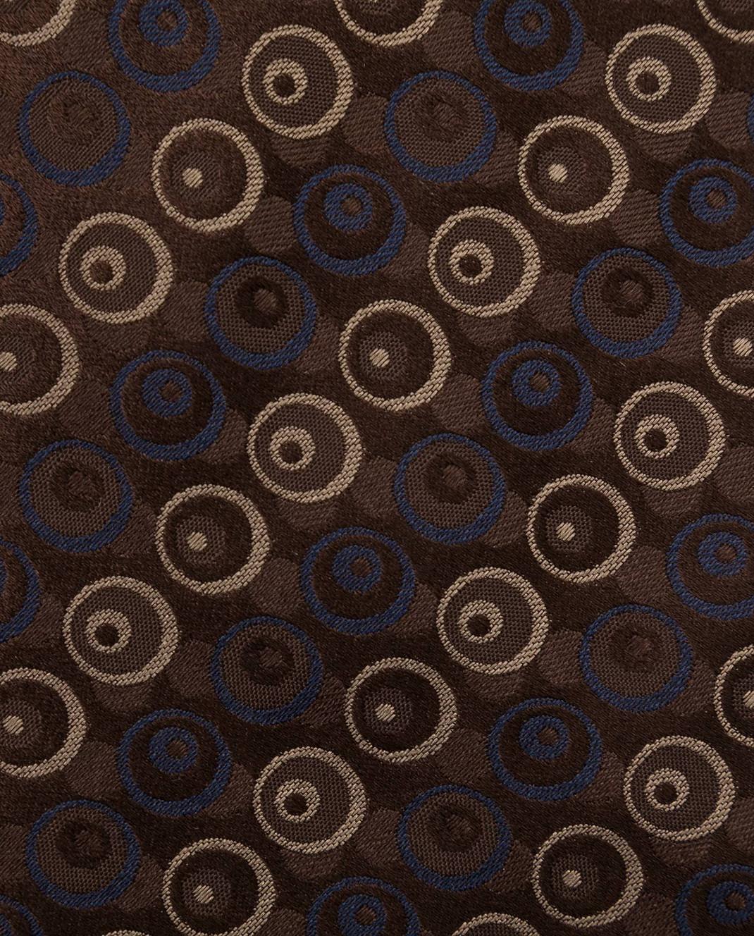 ISAIA Коричневый галстук из шелка CRV007CV53W изображение 4
