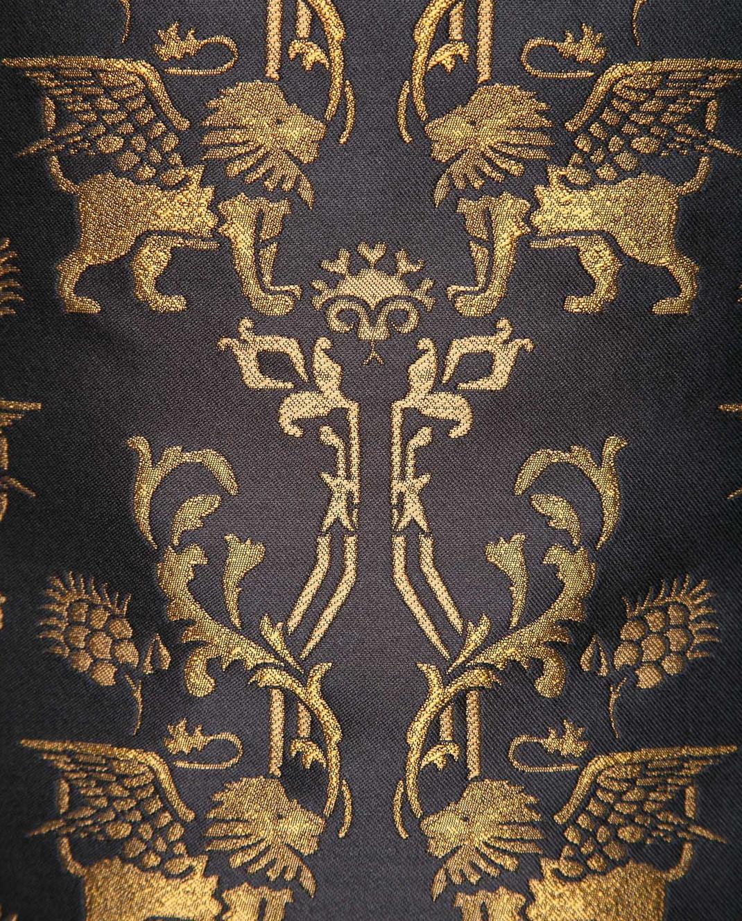 Alberta Ferretti Черное платье Winged lion A0451 изображение 5