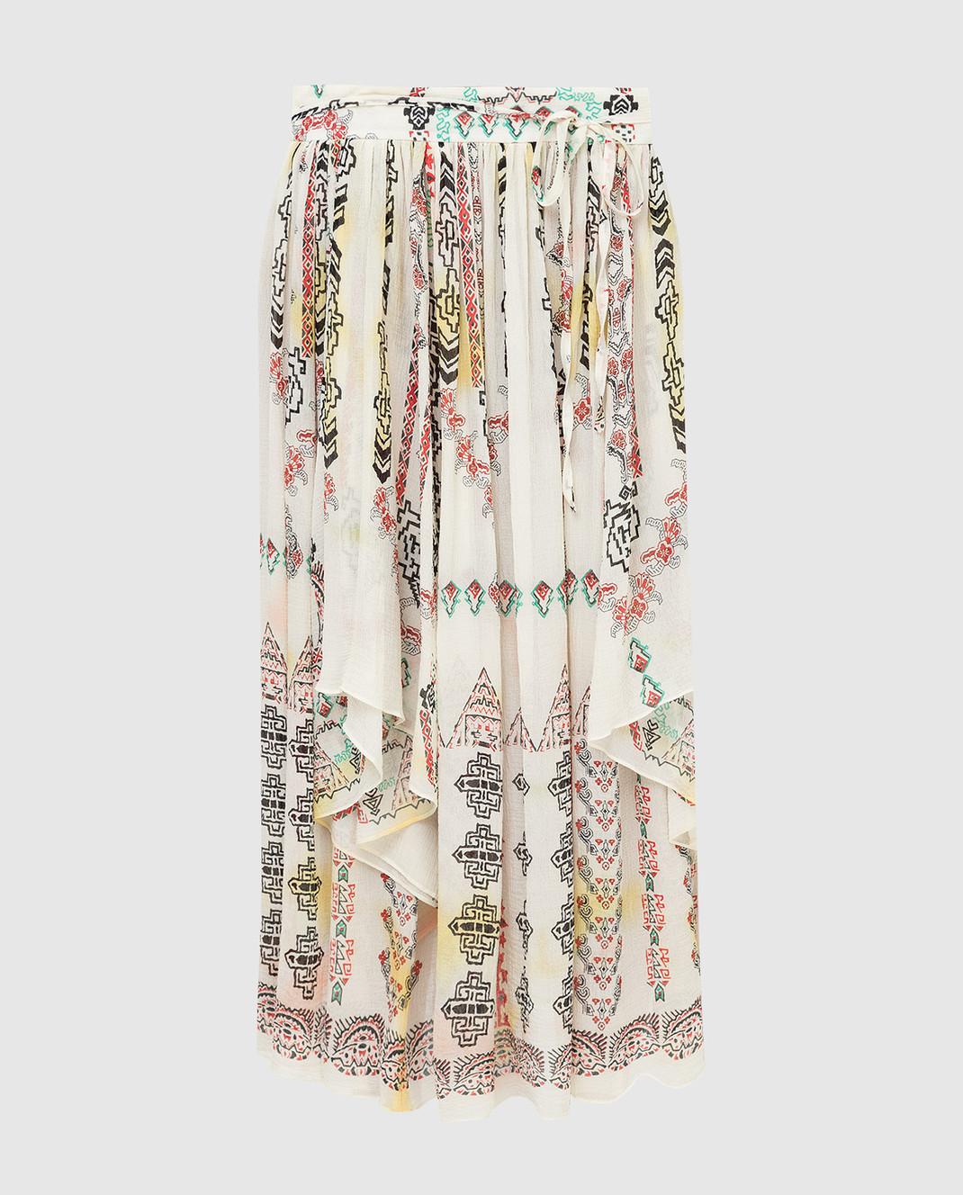 Etro Светло-бежевая юбка из шелка D18711