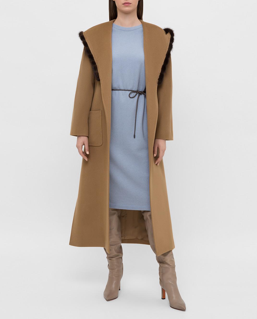 Heresis Бежевое пальто из шерсти M33130VIF260 изображение 2